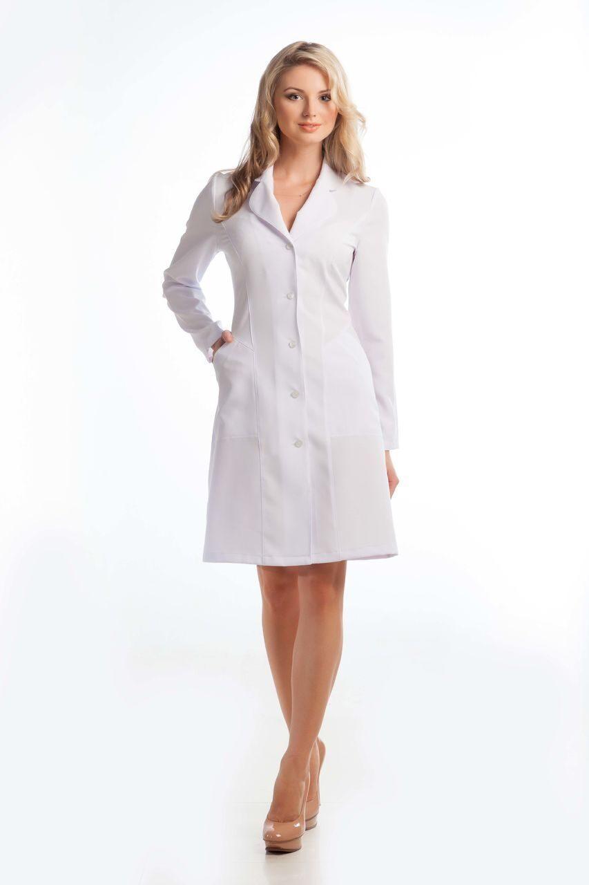 Халат медицинский женский дл. рукав 205д Лидия. Откроется в новой вкладке.